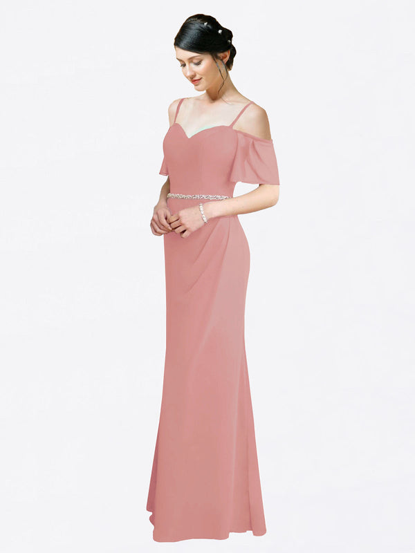 Mila Queen Kaley Bridesmaid Dress Dusty Pink - A-Line Sweetheart Long Bridesmaid Gown Kaley in Dusty Pink