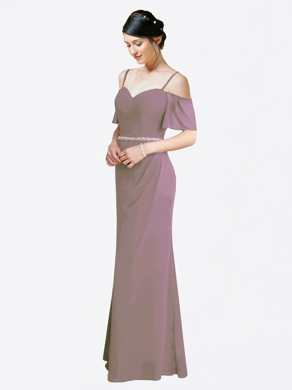 Mila Queen Kaley Bridesmaid Dress Dusty Rose - A-Line Sweetheart Long Bridesmaid Gown Kaley in Dusty Rose