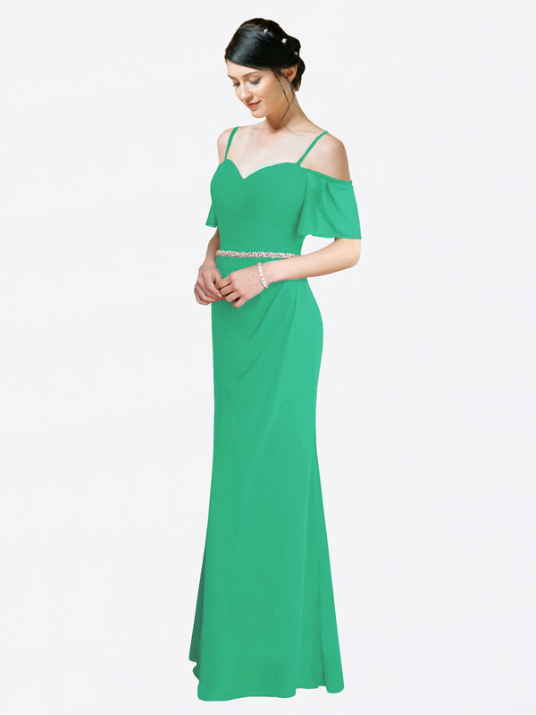 Mila Queen Kaley Bridesmaid Dress Emerald Green - A-Line Sweetheart Long Bridesmaid Gown Kaley in Emerald Green