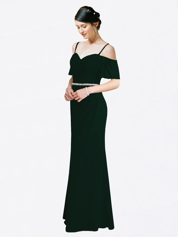 Mila Queen Kaley Bridesmaid Dress Ever Green - A-Line Sweetheart Long Bridesmaid Gown Kaley in Ever Green