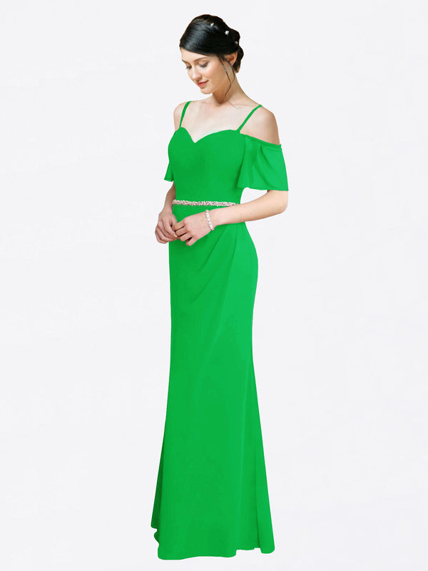 Mila Queen Kaley Bridesmaid Dress Green - A-Line Sweetheart Long Bridesmaid Gown Kaley in Green