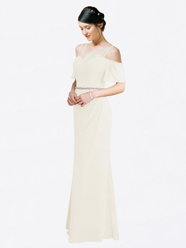 Mila Queen Kaley Bridesmaid Dress Ivory - A-Line Sweetheart Long Bridesmaid Gown Kaley in Ivory