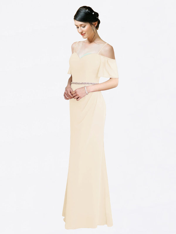 Mila Queen Kaley Bridesmaid Dress Light Champagne - A-Line Sweetheart Long Bridesmaid Gown Kaley in Light Champagne