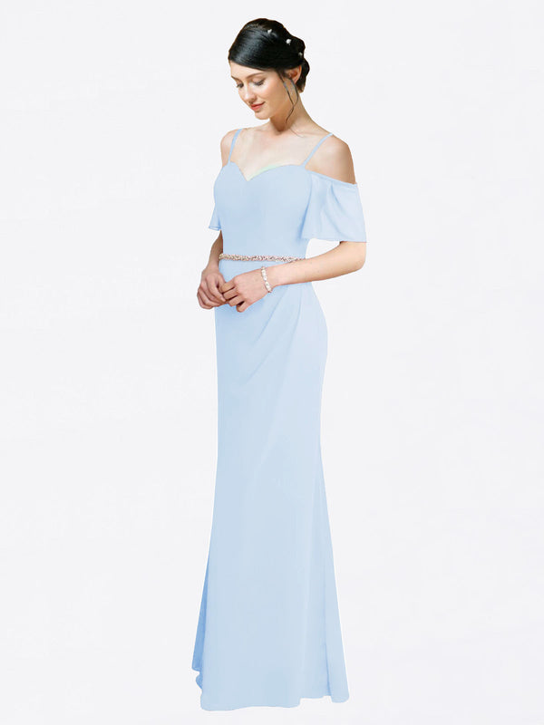 Mila Queen Kaley Bridesmaid Dress Light Sky Blue - A-Line Sweetheart Long Bridesmaid Gown Kaley in Light Sky Blue