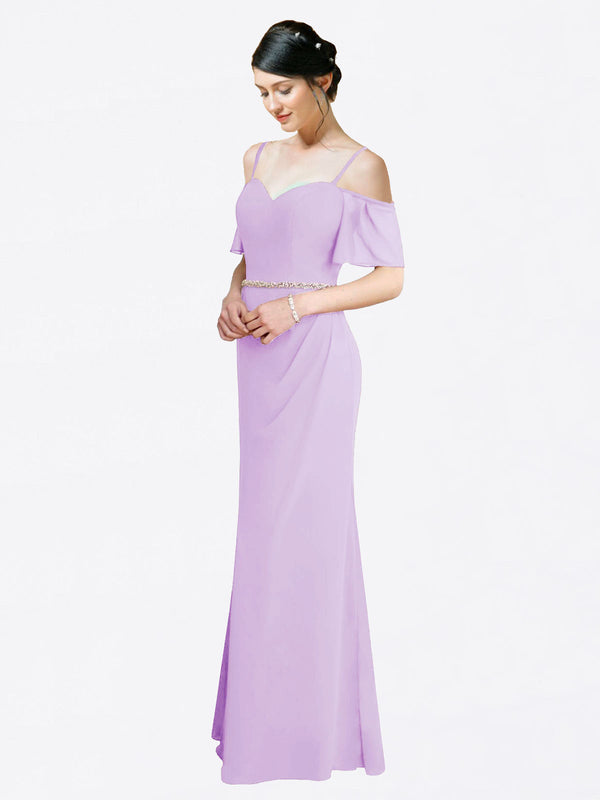 Mila Queen Kaley Bridesmaid Dress Lilac - A-Line Sweetheart Long Bridesmaid Gown Kaley in Lilac