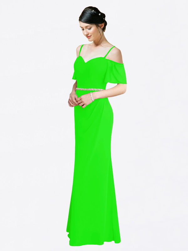 Mila Queen Kaley Bridesmaid Dress Lime Green - A-Line Sweetheart Long Bridesmaid Gown Kaley in Lime Green