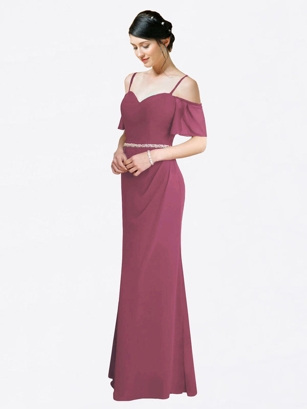 Mila Queen Kaley Bridesmaid Dress Mauve Taupe - A-Line Sweetheart Long Bridesmaid Gown Kaley in Mauve Taupe