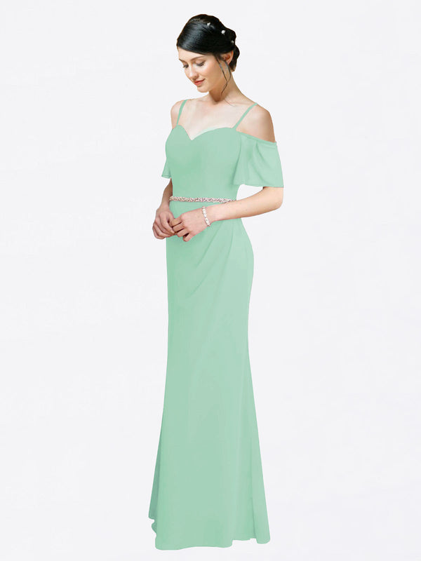 Mila Queen Kaley Bridesmaid Dress Mint Green - A-Line Sweetheart Long Bridesmaid Gown Kaley in Mint Green