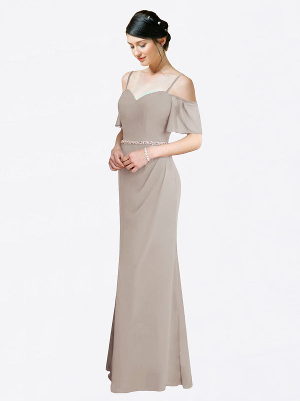 Mila Queen Kaley Bridesmaid Dress Oyster Silver - A-Line Sweetheart Long Bridesmaid Gown Kaley in Oyster Silver