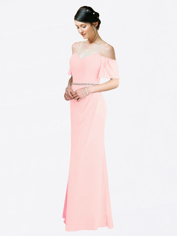 Mila Queen Kaley Bridesmaid Dress Pink - A-Line Sweetheart Long Bridesmaid Gown Kaley in Pink