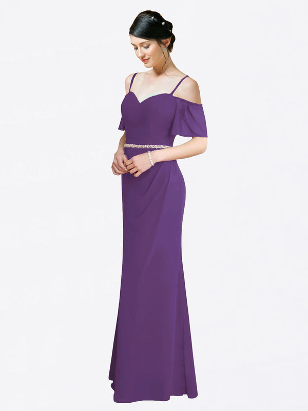 Mila Queen Kaley Bridesmaid Dress Plum Purple - A-Line Sweetheart Long Bridesmaid Gown Kaley in Plum Purple