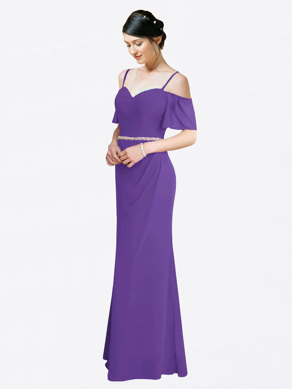 Mila Queen Kaley Bridesmaid Dress Purple - A-Line Sweetheart Long Bridesmaid Gown Kaley in Purple