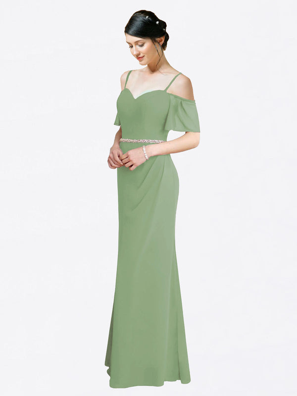Mila Queen Kaley Bridesmaid Dress Seagrass - A-Line Sweetheart Long Bridesmaid Gown Kaley in Seagrass