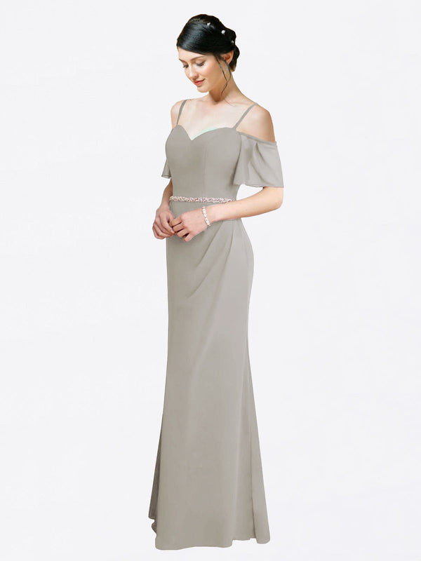 Mila Queen Kaley Bridesmaid Dress Silver - A-Line Sweetheart Long Bridesmaid Gown Kaley in Silver