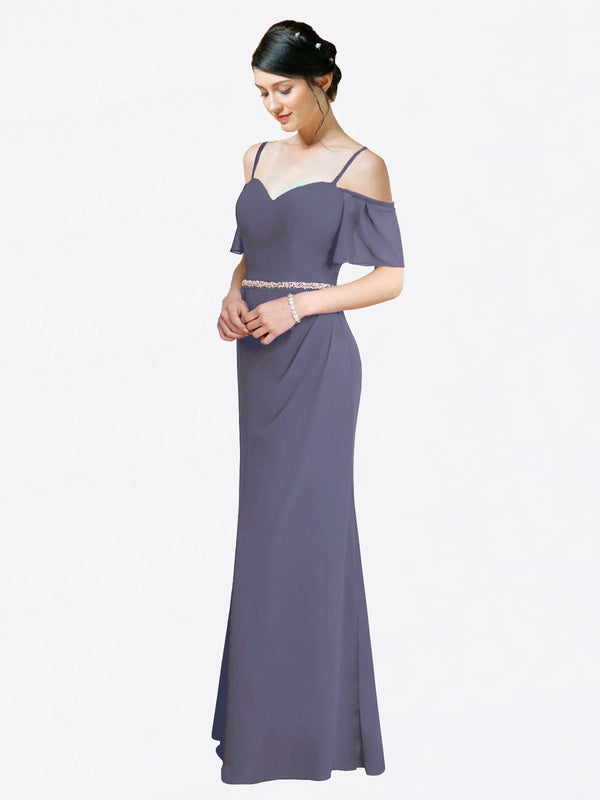 Mila Queen Kaley Bridesmaid Dress Silver Stone - A-Line Sweetheart Long Bridesmaid Gown Kaley in Silver Stone