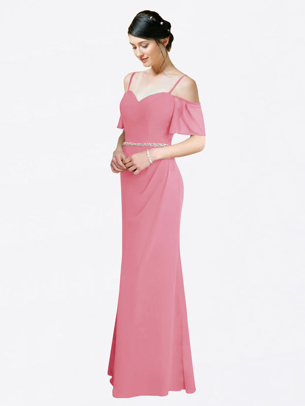 Mila Queen Kaley Bridesmaid Dress Skin Pink - A-Line Sweetheart Long Bridesmaid Gown Kaley in Skin Pink