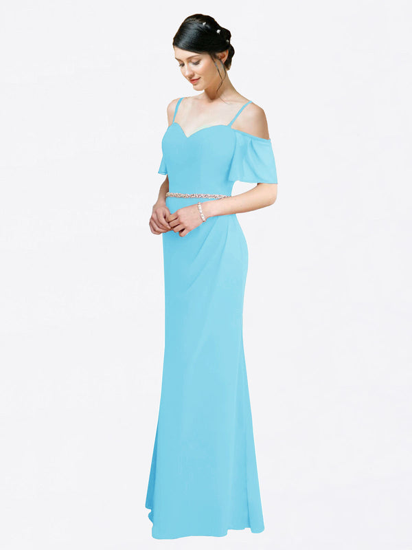 Mila Queen Kaley Bridesmaid Dress Sky Blue - A-Line Sweetheart Long Bridesmaid Gown Kaley in Sky Blue