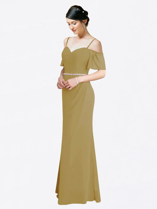 Mila Queen Kaley Bridesmaid Dress Topaz - A-Line Sweetheart Long Bridesmaid Gown Kaley in Topaz