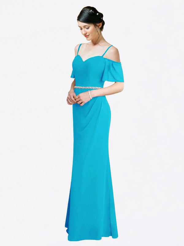 Mila Queen Kaley Bridesmaid Dress Turquoise - A-Line Sweetheart Long Bridesmaid Gown Kaley in Turquoise