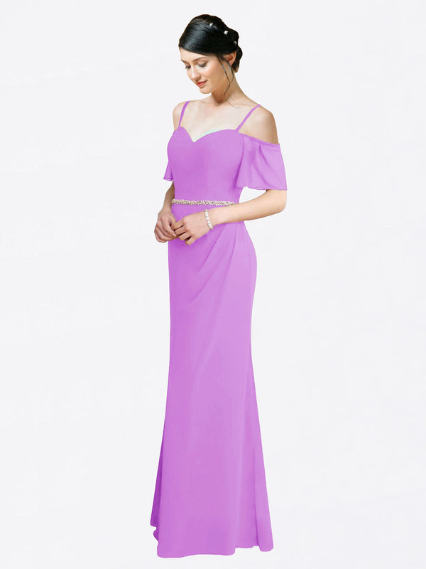 Mila Queen Kaley Bridesmaid Dress Violet - A-Line Sweetheart Long Bridesmaid Gown Kaley in Violet