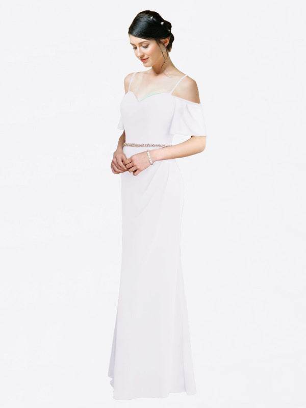 Mila Queen Kaley Bridesmaid Dress White - A-Line Sweetheart Long Bridesmaid Gown Kaley in White