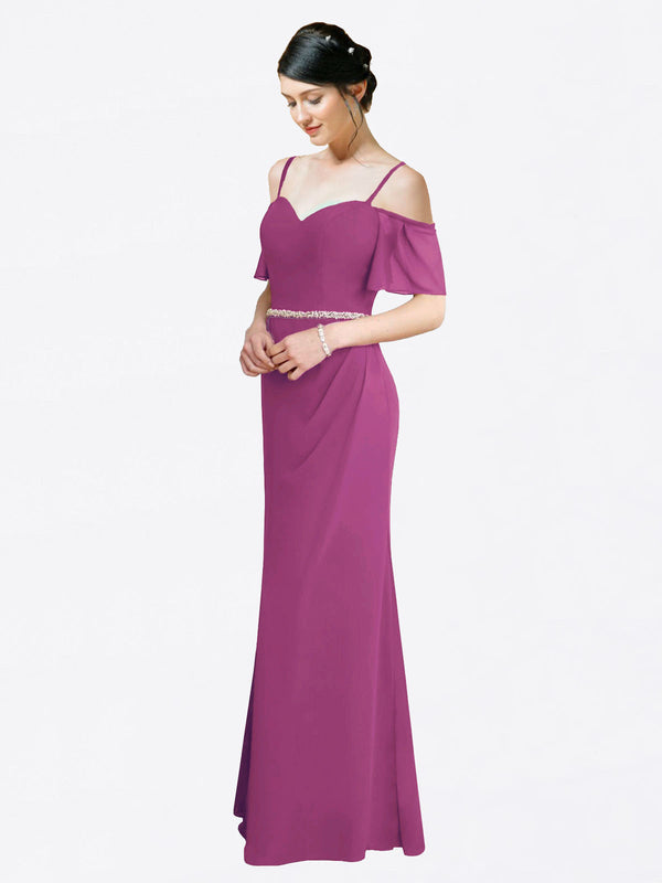 Mila Queen Kaley Bridesmaid Dress Wild Berry - A-Line Sweetheart Long Bridesmaid Gown Kaley in Wild Berry