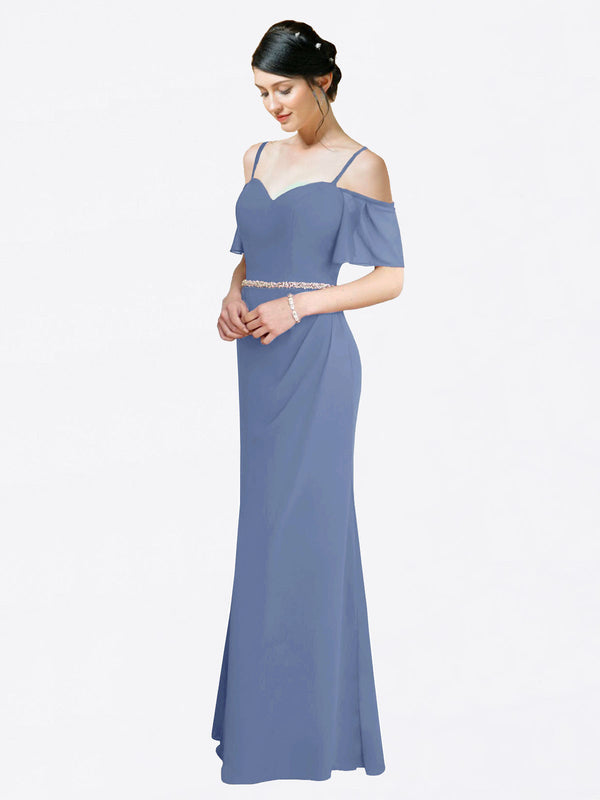 Mila Queen Kaley Bridesmaid Dress Windsor Blue - A-Line Sweetheart Long Bridesmaid Gown Kaley in Windsor Blue