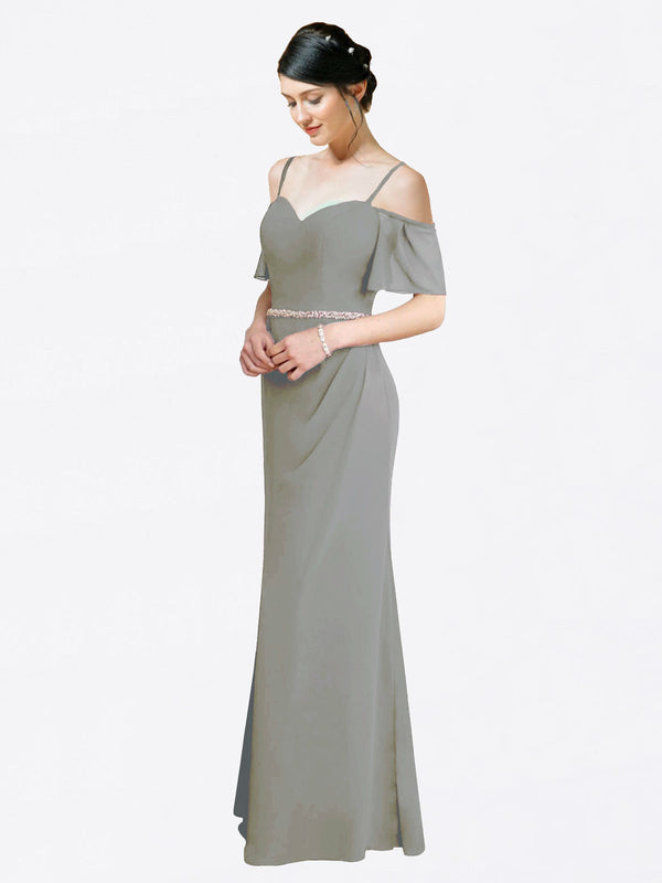 Mila Queen Kaley Bridesmaid Dress Wisteria - A-Line Sweetheart Long Bridesmaid Gown Kaley in Wisteria