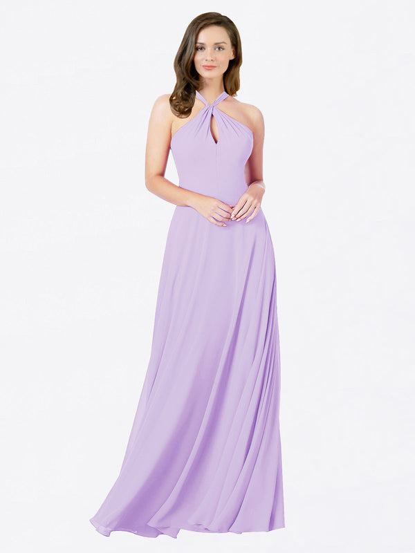 Mila Queen Chandler Bridesmaid Dress Lilac - A-Line Halter Bridesmaid Gown Chandler in Lilac