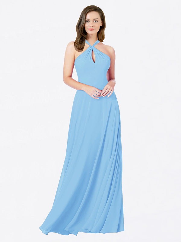 Mila Queen Chandler Bridesmaid Dress Periwinkle - A-Line Halter Bridesmaid Gown Chandler in Periwinkle