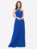 Mila Queen Chandler Bridesmaid Dress Royal Blue - A-Line Halter Bridesmaid Gown Chandler in Royal Blue