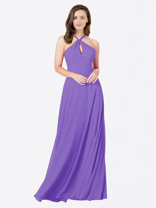 Mila Queen Chandler Bridesmaid Dress Tahiti - A-Line Halter Bridesmaid Gown Chandler in Tahiti
