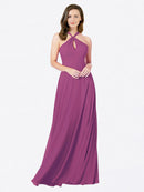 Mila Queen Chandler Bridesmaid Dress Wild Berry - A-Line Halter Bridesmaid Gown Chandler in Wild Berry