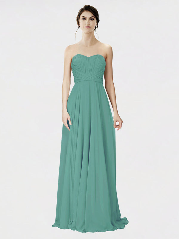 Mila Queen Danee Bridesmaid Dress Icelandic Silver - A-Line Strapless Long Bridesmaid Gown Danee in Icelandic Silver