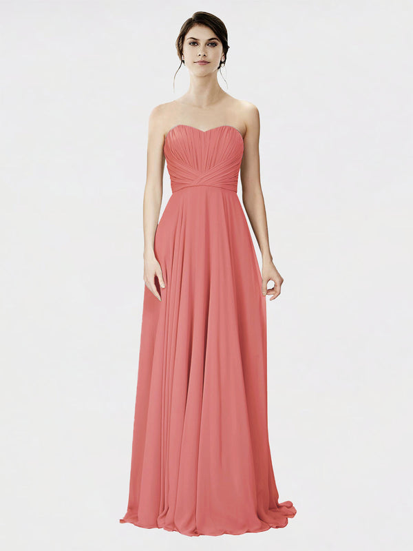 Mila Queen Danee Bridesmaid Dress Rosewood - A-Line Strapless Long Bridesmaid Gown Danee in Rosewood
