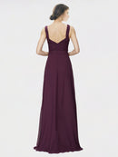 Mila Queen Jennylyn Bridesmaid Dress in Grape - A-Line V-Neck Long Bridesmaid Gown Jennylyn in Grape