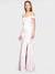 Ivory Mermaid Off the Shoulder Sleeveless Long Crepe Bridesmaid Dress Jahnita