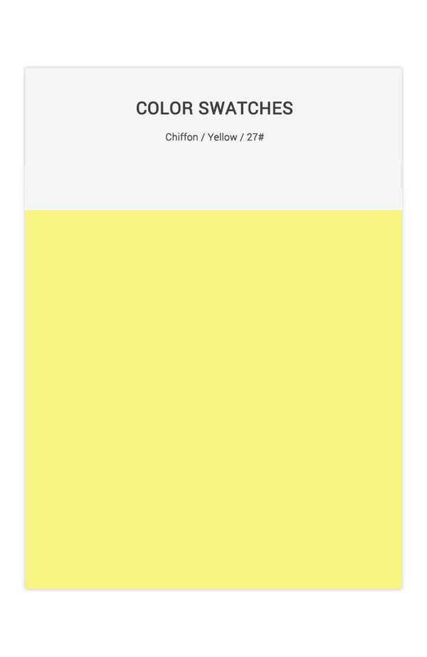 Yellow Color Swatches for Chiffon Bridesmaid Dresses