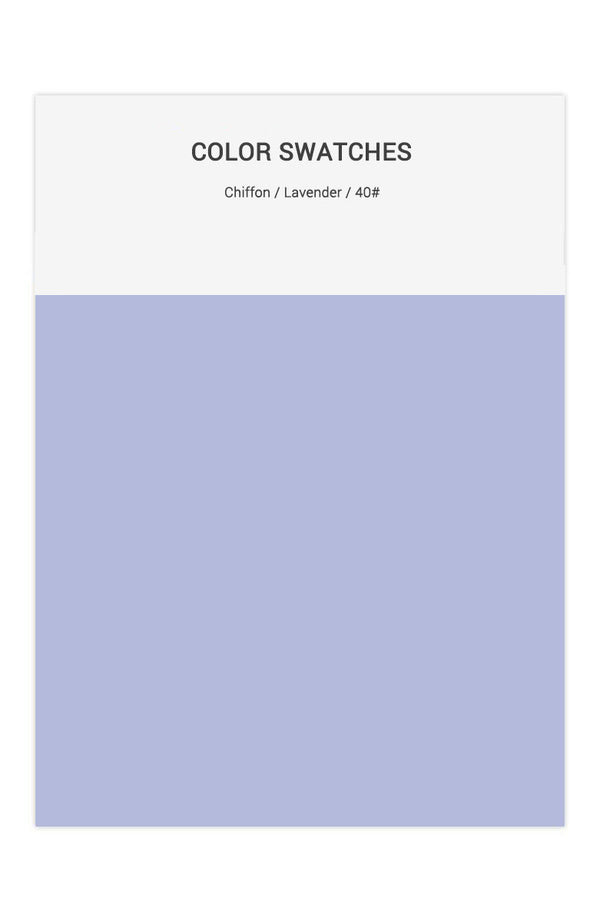Lavender Color Swatches for Chiffon Bridesmaid Dresses
