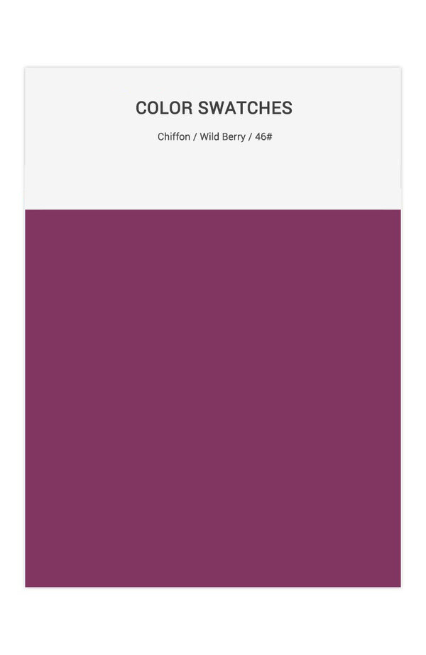 Wild Berry Color Swatches for Chiffon Bridesmaid Dresses