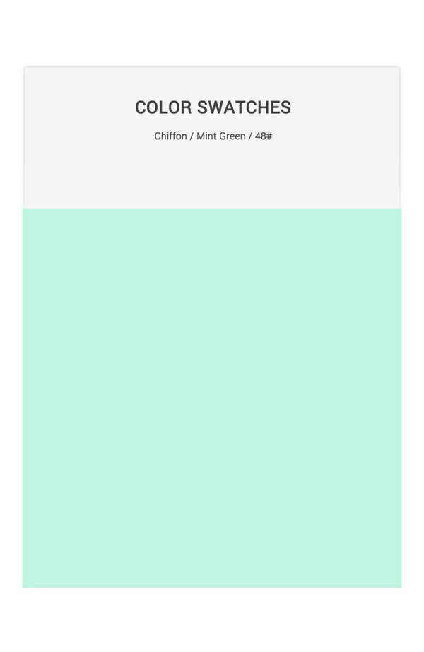 Mint Green Color Swatches for Chiffon Bridesmaid Dresses