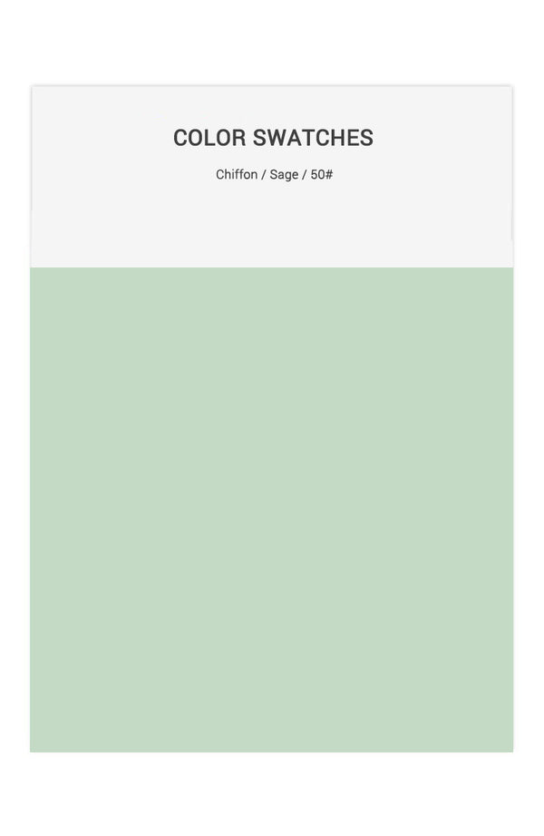 Sage Color Swatches for Chiffon Bridesmaid Dresses