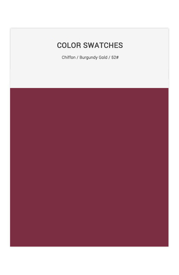 Burgundy Gold Color Swatches for Chiffon Bridesmaid Dresses