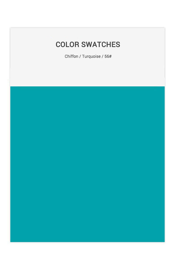 Turquoise Color Swatches for Chiffon Bridesmaid Dresses
