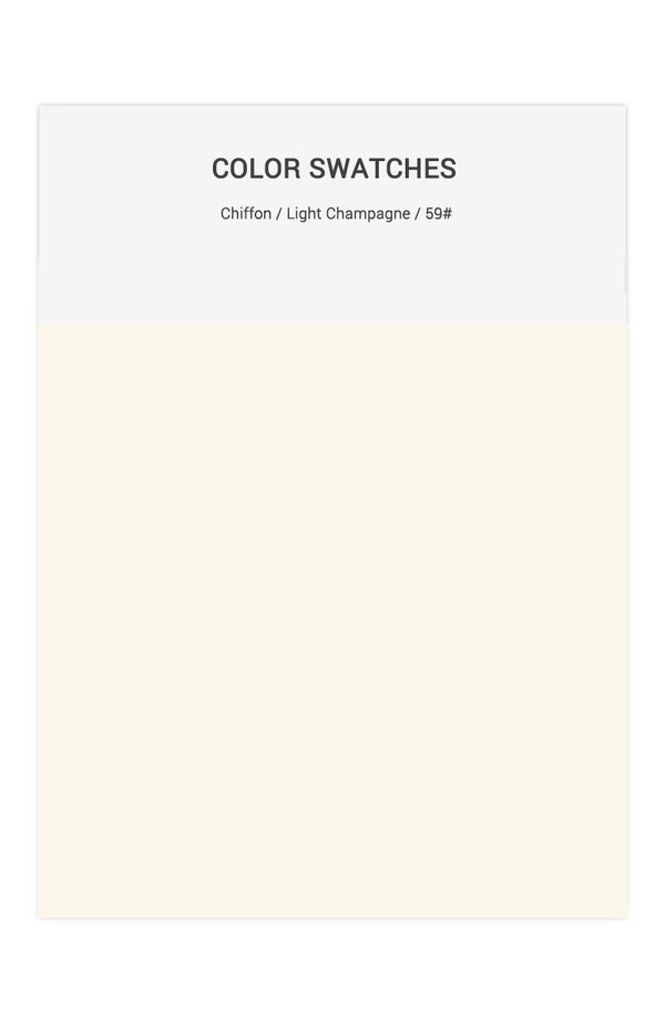 Light Champagne Color Swatches for Chiffon Bridesmaid Dresses
