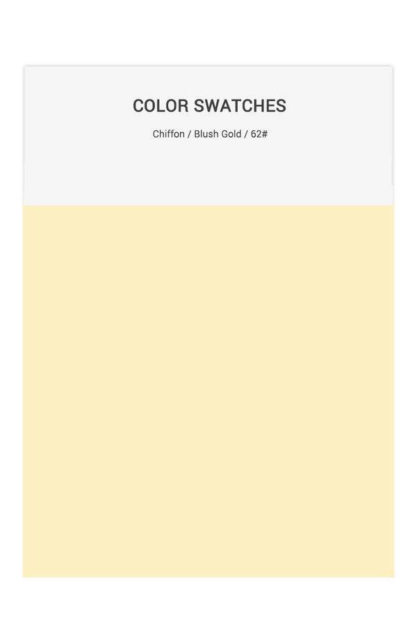 Blush Gold Color Swatches for Chiffon Bridesmaid Dresses