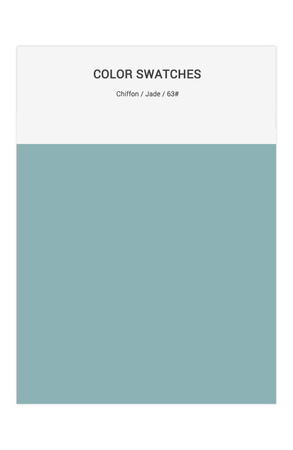 Jade Color Swatches for Chiffon Bridesmaid Dresses