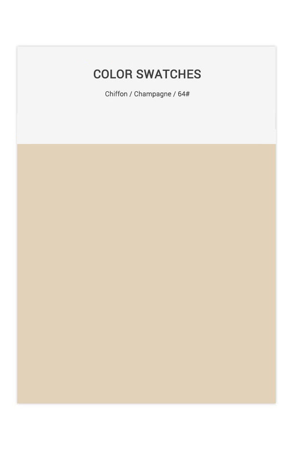 Champagne Color Swatches for Chiffon Bridesmaid Dresses