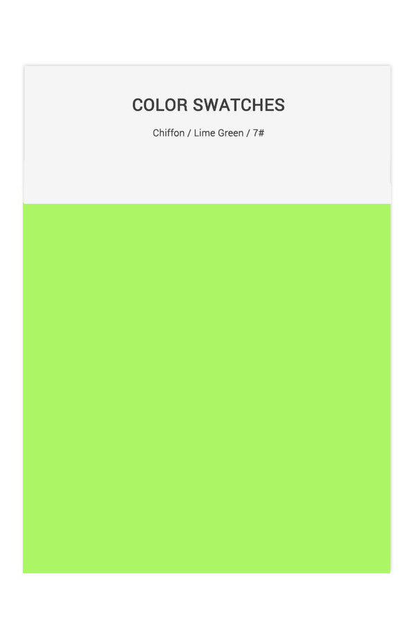 Lime Green Color Swatches for Chiffon Bridesmaid Dresses