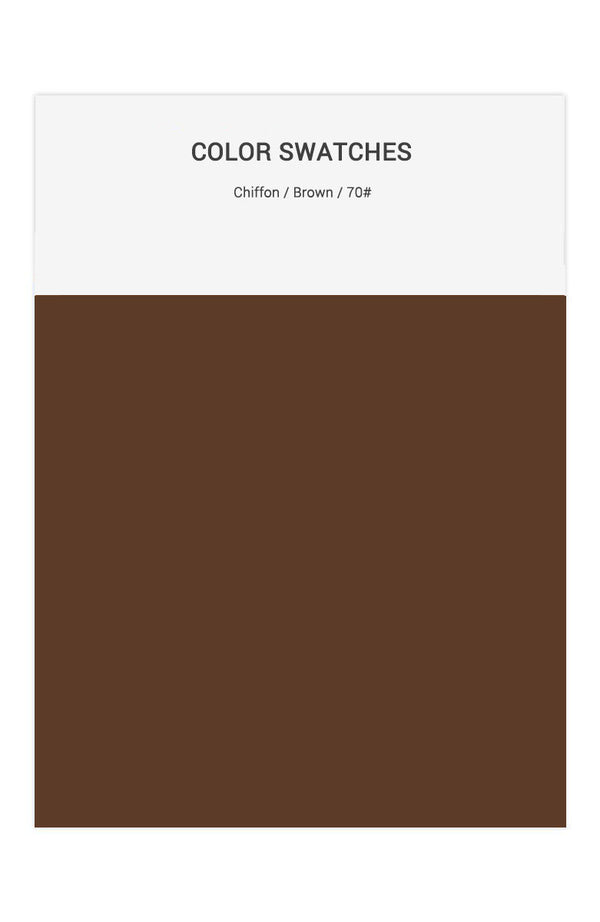 Brown Color Swatches for Chiffon Bridesmaid Dresses